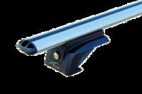 """Универсальная багажная система """"LUX"""" ЭЛЕГАНТ с дугами 1,2м аэро-классик (53мм) для а/м с рейлингами (с замками)"""